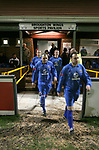 Airbus UK 4 Bangor City 1, 12/01/2007. The Airfield, Welsh Premier League. The home team take the field as lowly Airbus UK (blue) take on Bangor City in a Welsh Premier League match at The Airfield, Broughton. The Airmen won by 4 goals to 1, having lead by a solitary goal at the break in this North Wales clash. Photo by Colin McPherson.