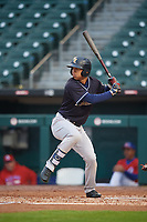 Scranton/Wilkes-Barre RailRiders Gosuke Katoh (50) at bat during an International League game against the Buffalo Bisons on June 5, 2019 at Sahlen Field in Buffalo, New York.  Scranton defeated Buffalo 4-0, the second game of a doubleheader.  (Mike Janes/Four Seam Images)