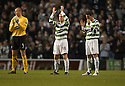 26/11/2005         Copyright Pic : James Stewart.File Name : sct_jspa01 celtic v dunfermline.ARTUR BORUC, NEIL LENNON AND ALAN THOMPSON DURING THE ONE MINUTE APPLAUSE FOR GEORGE BEST......Payments to :.James Stewart Photo Agency 19 Carronlea Drive, Falkirk. FK2 8DN      Vat Reg No. 607 6932 25.Office     : +44 (0)1324 570906     .Mobile   : +44 (0)7721 416997.Fax         : +44 (0)1324 570906.E-mail  :  jim@jspa.co.uk.If you require further information then contact Jim Stewart on any of the numbers above.........