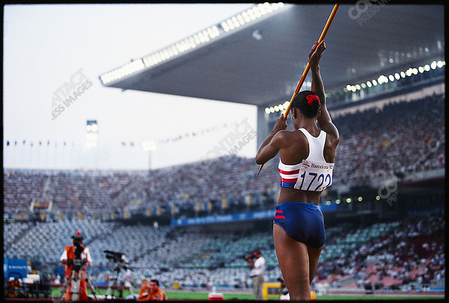 Javelin at the 1992 Olympic Games in Barcelona, Spain.