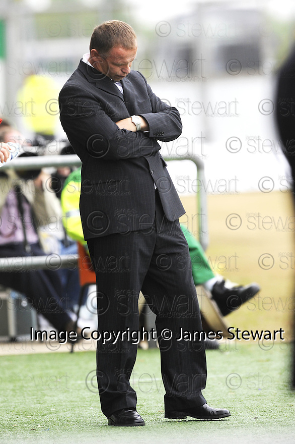 30/08/2008  Copyright Pic: James Stewart.File Name : sct_jspa15_falkirk_v_ict.FALKIRK MANAGER JOHN HUGHES WATCHES HIS SIDE LOSE THE LEAD....James Stewart Photo Agency 19 Carronlea Drive, Falkirk. FK2 8DN      Vat Reg No. 607 6932 25.James Stewart Photo Agency 19 Carronlea Drive, Falkirk. FK2 8DN      Vat Reg No. 607 6932 25.Studio      : +44 (0)1324 611191 .Mobile      : +44 (0)7721 416997.E-mail  :  jim@jspa.co.uk.If you require further information then contact Jim Stewart on any of the numbers above........
