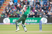 Mashrafe Mortaza (Bangladesh) manages to get some bat and the ball scoots off to third man during England vs Bangladesh, ICC World Cup Cricket at Sophia Gardens Cardiff on 8th June 2019