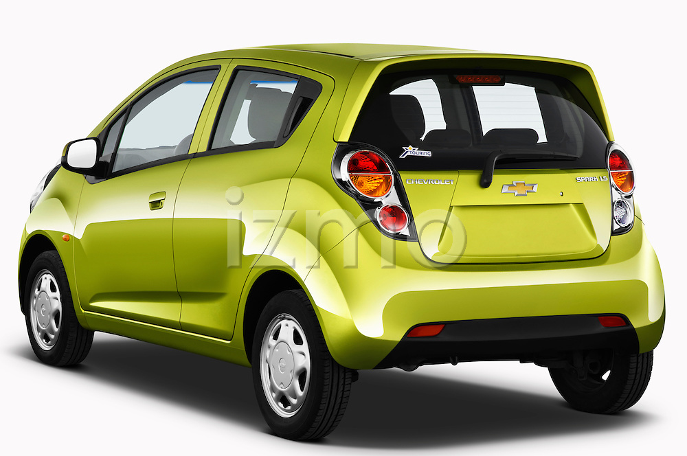Rear three quarter view of a 2011 Chevrolet Spark LS 5 Door Hatchback