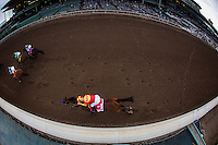 ARCADIA, CA - FEBRUARY 04: Hoppertunity #1, ridden by Flavien Prat races in the San Antonio Stakes at Santa Anita Park on February 4, 2017 in Arcadia, California. (Photo by Alex Evers/Eclipse Sportswire/Getty Images)