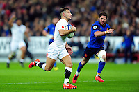 Danny Care of England runs in a first half try. RBS Six Nations match between France and England on March 19, 2016 at the Stade de France in Paris, France. Photo by: Patrick Khachfe / Onside Images