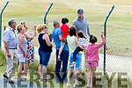 Eric Trump meets some locals at Ballybunion Golf Club on Sunday.