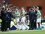 Pedro Caixinha and Scott Brown at half time