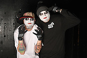FORT LAUDERDALE, FL - FEBRUARY 19: Monoxide Child and Jamie Madrox of Twiztid pose during a photo session at The Culture Room on February 19, 2017 in Fort Lauderdale, Florida. : Photo By Larry Marano © 2017