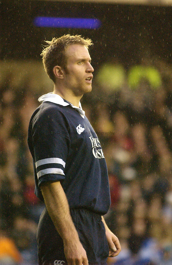 Photo. Jed Wee.Scotland v South Africa, Rugby Union International, Murrayfield, Edinburgh, Scotland. 16-11-2002..Scotland's Nikki Walker.