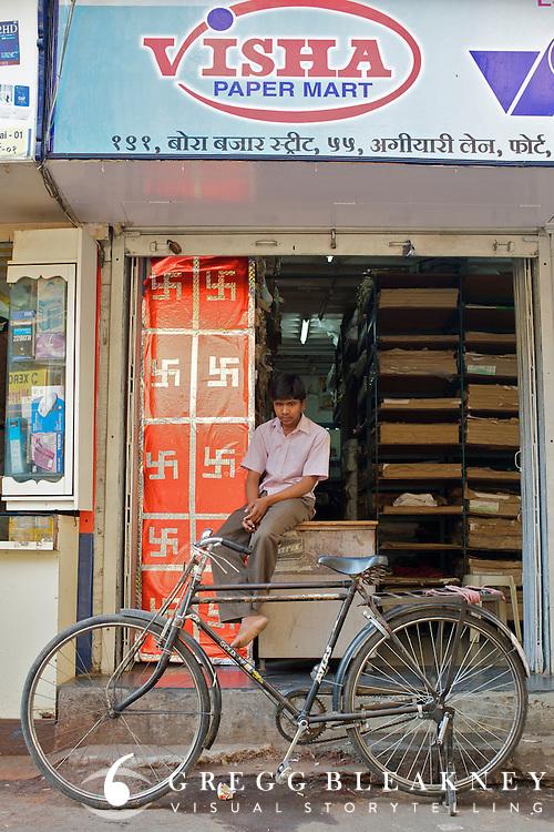 Paper delivery boy - Bombay/Mumbai - India