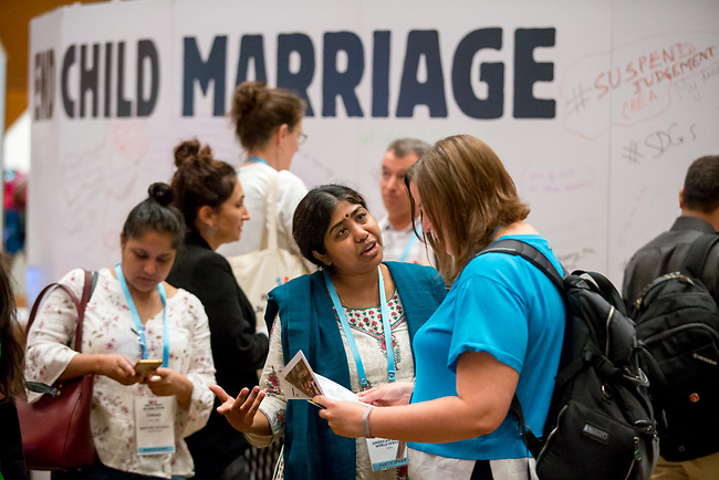 27 June, 2018, Kuala Lumpur, Malaysia : Participants in the Village on the third day at the Girls Not Brides Global Meeting 2018 at the Kuala Lumpur Convention Centre. Picture by Graham Crouch/Girls Not Brides