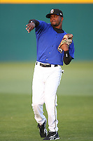 April 15 2009: Jeremy Moore of the Rancho Cucamonga Quakes before game against the Visalia Rawhide at The Epicenter in Rancho Cucamonga,CA.  Photo by Larry Goren/Four Seam Images