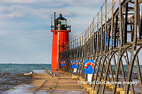 64795-02605 South Haven Lighthouse early morning South Haven,  MI