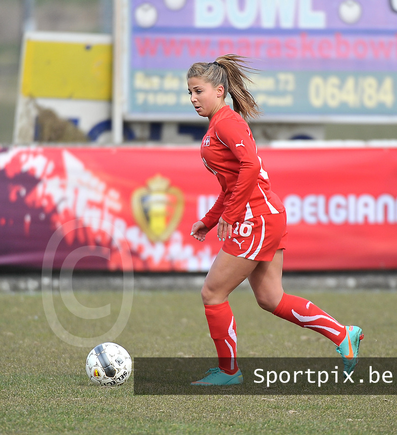 Switzerland U19 - Russia U19 : Switzerland number 16 Anja Thürig.foto DAVID CATRY / Nikonpro.be