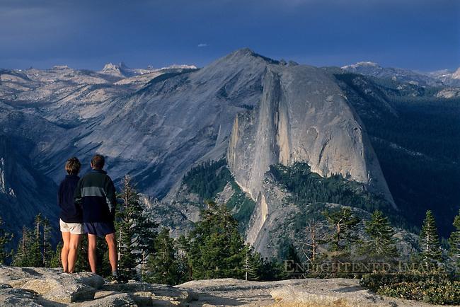 Looking towards Half Dome and Tenaya Canyon from Sentinel Dome, Yosemite National Park, CALIFORNIA
