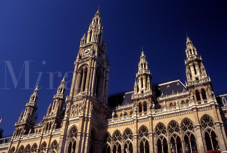 Vienna, Austria, Wien, City Hall in downtown Vienna.