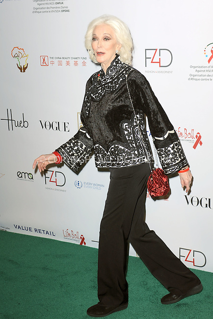 WWW.ACEPIXS.COM<br /> September 28, 2015 New York City<br /> <br /> Carmen Dell'Orefice attending the Fashion 4 Development's 5th annual Official First Ladies luncheon at The Pierre Hotel on September 28, 2015 in New York City.<br /> <br /> Credit: Kristin Callahan/ACE Pictures<br /> <br /> Tel: (646) 769 0430<br /> e-mail: info@acepixs.com<br /> web: http://www.acepixs.com