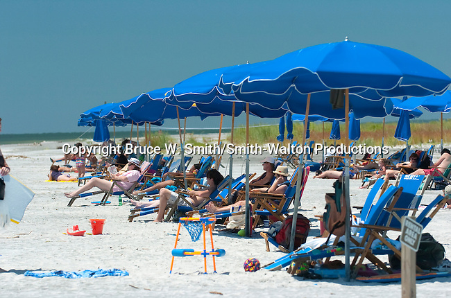 People Relax On The Beach At Fort Ship Island Mississippi