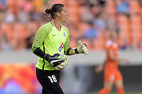 Houston, TX - Sunday June 19, 2016: Nicole Barnhart during a regular season National Women's Soccer League (NWSL) match between the Houston Dash and FC Kansas City at BBVA Compass Stadium.