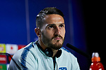 Atletico de Madrid's player Jorge Resurreccion 'Koke' during the Press Conference before UEFA Champions League match between Atletico de Madrid and Juventus at Wanda Metropolitano Stadium in Madrid, Spain. February 19, 2019. (ALTERPHOTOS/A. Perez Meca)