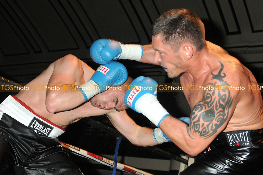 Tony Conquest (black shorts) defeats Tomislav Rudan - Boxing at the York Hall, Bethnal Green, London - 22/03/15 - MANDATORY CREDIT: Philip Sharkey/TGSPHOTO - Self billing applies where appropriate - contact@tgsphoto.co.uk - NO UNPAID USE