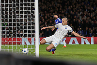 Maicon FC Porto cannot prevent Ivan Marcano FC Porto (not shown) from scoring an own goal to make it 1-0 to Chelsea during the UEFA Champions League group match between Chelsea and FC Porto at Stamford Bridge, London, England on 9 December 2015. Photo by David Horn / PRiME