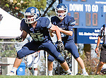 Palos Verdes, CA 09/24/16 - Cade Martin (Chadwick #55) and Alex Rosso (Chadwick #12) in action during the non-conference CIF 8-Man Football  game between Rolling Hills Prep and Chadwick at Chadwick.