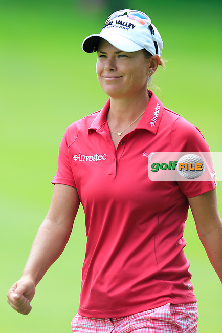 Lee-Anne Pace (RSA) on the 13th hole during Sunday's Final Round of the LPGA 2015 Evian Championship, held at the Evian Resort Golf Club, Evian les Bains, France. 13th September 2015.<br /> Picture Eoin Clarke | Golffile