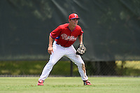 GCL Phillies outfielder Chase Harris (11) during a game against the GCL Pirates on June 26, 2014 at the Carpenter Complex in Clearwater, Florida.  GCL Phillies defeated the GCL Pirates 6-2.  (Mike Janes/Four Seam Images)