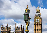 Cleaners give the South face of Big Ben a tidy-up