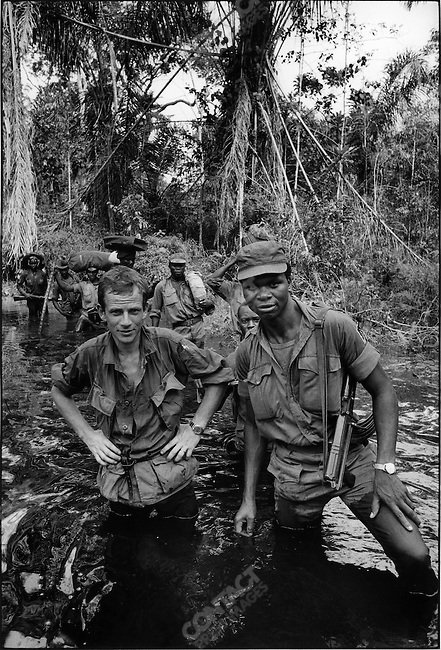 Gilles Caron, photographed by Don McCullin near Onitsha, Biafra, Nigeria, April 1968