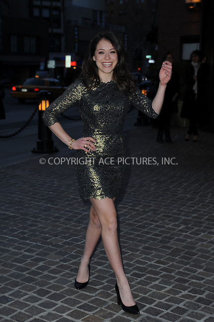 WWW.ACEPIXS.COM . . . . . .March 27, 2013...New York City....Tatiana Maslany attends a screening of 'The Host' at Tribeca Grand Hotel on March 27, 2013 in New York City. ....Please byline: KRISTIN CALLAHAN -WWW.ACEPIXS.COM.. . . . . . ..Ace Pictures, Inc: ..tel: (212) 243 8787 or (646) 769 0430..e-mail: info@acepixs.com..web: http://www.acepixs.com .