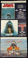 BNPS.co.uk (01202 558833)<br /> Pic: Burstow&amp;Hewett/BNPS<br /> <br /> Jaws, Jaws 2 and Jaws 3D film posters.<br /> <br /> A late film buff's collection of 400 vintage movie posters has emerged for auction and is tipped to sell for &pound;15,000.<br /> <br /> The collection was amassed by a man who worked for several decades at the Marble Arch Odeon cinema in London which in its heyday was one of the capital's flagship cinemas.<br /> <br /> He sadly died a couple of years ago but bestowed the posters - which once were on display in the cinema - to a life-long friend who has decided to put them on the market.<br /> <br /> Many of the posters are from classic film franchises including Star Wars and James Bond as well as iconic Disney films such as Snow White and the Seven Dwarfs and Cinderella.