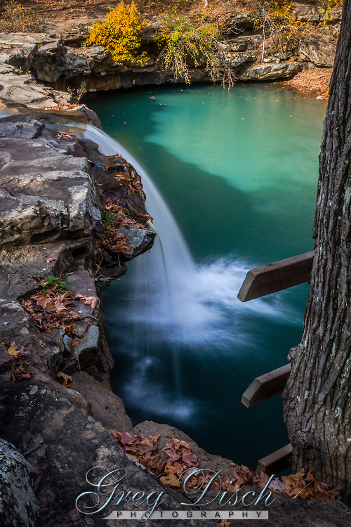 Falling Water Falls in the fall on Richland Creek in the Ozark National Forest in Arkansas.