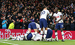 Tottenham's Moussa Sissoko celebrates after he scores to make it 3-0 during the Premier League match at the Tottenham Hotspur Stadium, London. Picture date: 30th November 2019. Picture credit should read: Paul Terry/Sportimage