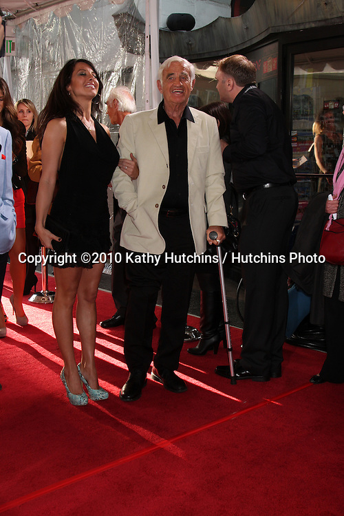 ".Jean-Paul Belmondo .arrives at the ""A Star is Born"" Restored Print World Premiere , part of the Turner Classic Movie Channel Classic Movie Festival.Grauman'S Chinese.Los Angeles, CA.April 22, 2010.©2010 Kathy Hutchins / Hutchins Photo..."