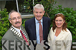 Seamus O'Donovan Chairman of Tralee Chamber of commerce, Paddy Power, Shannon LNG, and Grace O'Donnell pictured at Brandon Hotel, Tralee on Tuesday at a Tralee Chamber of Commerce Talk by Paddy Power on Chamber Talk on Oil and Gas Industry.