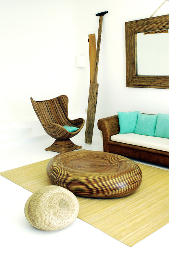 """A living room within one of the bedrooms in """"Casa Oriente"""""""