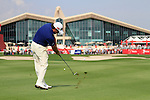 Graeme McDowell plays his 2nd shot on the 9th hole during Day 3 Saturday of the Abu Dhabi HSBC Golf Championship, 22nd January 2011..(Picture Eoin Clarke/www.golffile.ie)