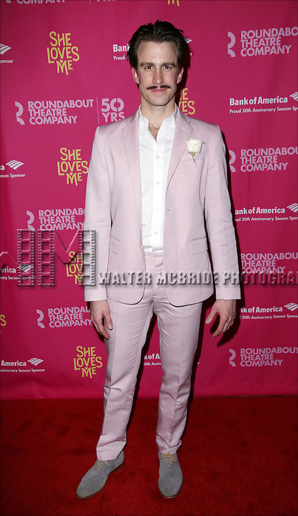 Cavin Creel attends the Broadway Opening Night Performance press reception for 'She Loves Me' at Studio 54 on March 17, 2016 in New York City.