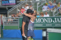 DELRAY BEACH, FL - NOVEMBER 05: Scott Foley and Renee Stubbs participates in the 28th Annual Chris Evert/Raymond James Pro-Celebrity Tennis Classic at Delray Beach Tennis Center on November 5, 2017 in Delray Beach, Florida<br /> CAP/MPI122<br /> &copy;MPI122/Capital Pictures