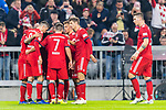 03.11.2018, Allianz Arena, Muenchen, GER, 1.FBL,  FC Bayern Muenchen vs. SC Freiburg, DFL regulations prohibit any use of photographs as image sequences and/or quasi-video, im Bild Jubel nach dem Tor zum 10-durch Serge Gnabry (FCB #22) <br /> <br />  Foto &copy; nordphoto / Straubmeier