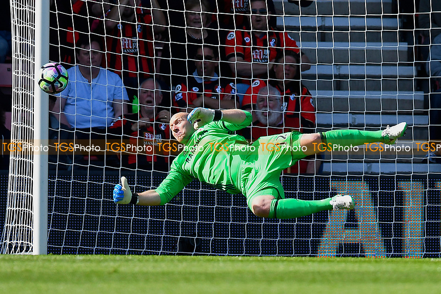 Brad Guzan of Middlesbrough makes a save during AFC Bournemouth vs Middlesbrough, Premier League Football at the Vitality Stadium on 22nd April 2017