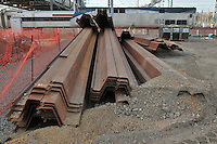 Earth Retention Steel Girders on site at New Haven Rail Yard, Independent Wheel True Facility. CT-DOT Project # 0300-0139, New Haven CT..Progress Photograph of Construction Progress Photo Shoot 8 on 14 February 2012.Image No. 55