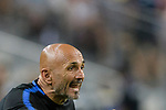 FC Internazionale Coach Luciano Spalletti reacts during the International Champions Cup match between FC Bayern and FC Internazionale at National Stadium on July 27, 2017 in Singapore. Photo by Weixiang Lim / Power Sport Images