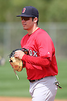 March 18, 2010:  First Baseman Drew Hedman of the Boston Red Sox organization during Spring Training at Ft.  Myers Training Complex in Fort Myers, FL.  Photo By Mike Janes/Four Seam Images