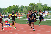 SLUH Jr Raymond Wingo sprints to victory in the 100 meters in 10.67 at the Class 4 Sectional 2 meet at Parkway North.