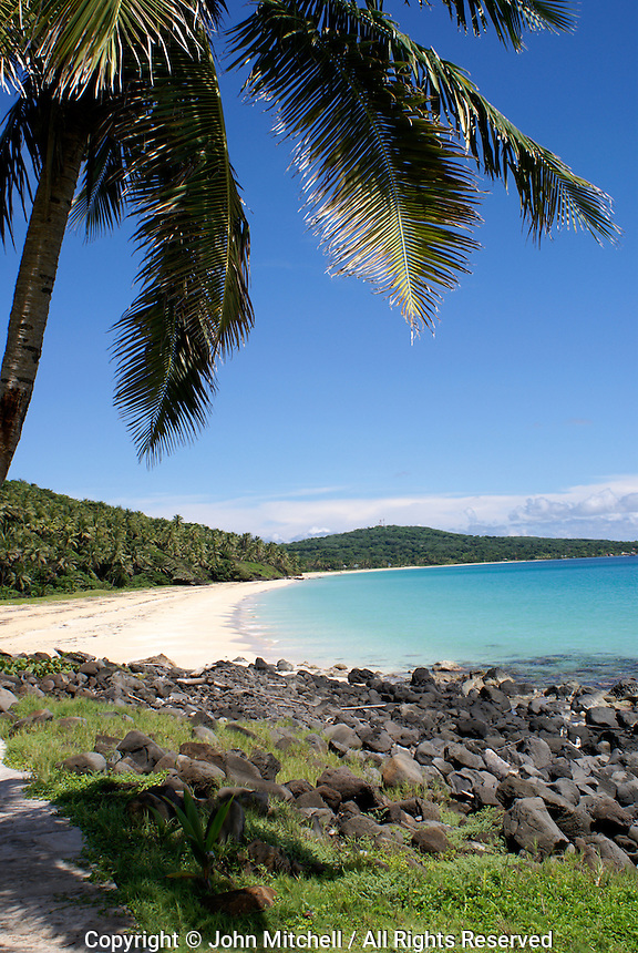 Pristine white sand Caribbean beach on Big Corn Island (or Great Corn Island), Nicaragua