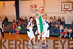 St Brendan's Gary Murphy goes the basket in U20 national cup at Mounthawk .gym, Tralee on Saturday.