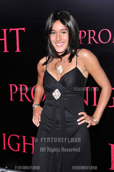 "Q'orianka Kilcher at the world premiere of ""Prom Night"" at the Cinerama Dome, Hollywood..April 9, 2008  Los Angeles, CA.Picture: Paul Smith / Featureflash"